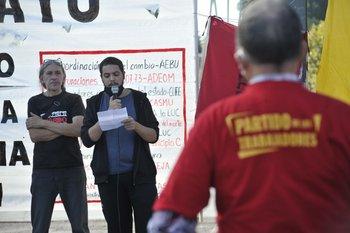 Acto frente al Palacio Legislativo, en el marco del Día de los Trabajadores