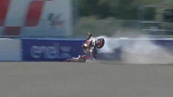 Así voló Marc Márquez en la clasificación del Gran Premio de España
