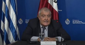Diego De Freitas, director general de la DGSG del MGAP.