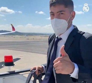 Federico Valverde antes de viajar a Londres para la vuelta de la semifinales de la Liga de Campeones