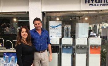 Alejandro Quincke y Andrea Galarraga, de Purificadores UY
