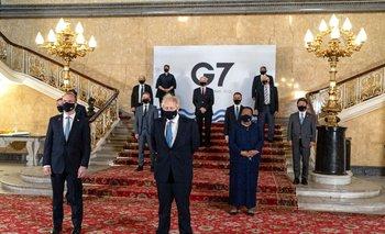 Representantes de Alemania, Canadá, Estados Unidos, Francia, Italia, Japón y Reino Unido