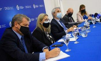Conferencia de prensa de autoridades de BPS, DGI y MEF