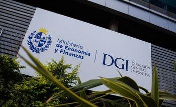 Edificio central de la DGI en Montevideo.