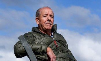 Núbel Cisneros abrigado: a diferencia del día de la entrevista, las fotos estuvieron acompañadas de un frente de frío intenso