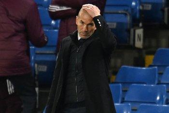 Zinedine Zidane, el rostro de la decepción