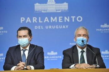 Ferrés y Heber defendieron el acuerdo y la extensión de la concesión en el Parlamento