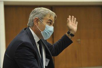 Robert Silva en una reunión del Consejo de Ministros
