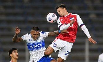 Felipe Carballo durante el partido contra Universidad Católica