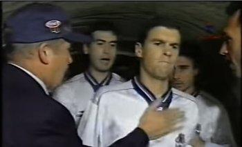 Diego Scotti le pone el pecho a la palmada de Carlos Grigoul