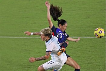 Foto de archivo de un partido de la selección argentina