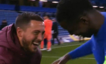 Las risas de Hazard que causaron polémica