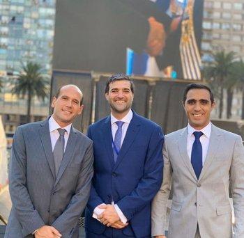 Lema, Martinelli y Satdjian en la asunción de Luis Lacalle el 1° de marzo
