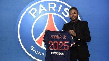 Neymar prolongó su contrato con Paris Saint-Germain hasta 2025