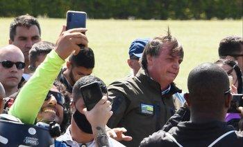 Bolsonaro lideró una caravana en medio de la segunda ola de la pandemia
