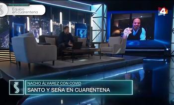 Ignacio Álvarez condujo Santo y Seña a distancia por estar en cuarentena