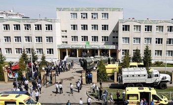 Escuela rusa en donde ocurrió el incidente
