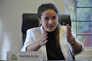 Matilde Antía, alcaldesa del municipio CH