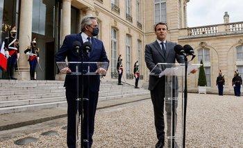 Alberto Fernández se reunió con Macron en marco de su gira europea