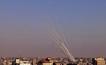 Cohetes lanzados por Hamás contra Israel