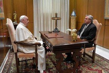 Fernández y el papa tuvieron una audiencia privada de 30 minutos