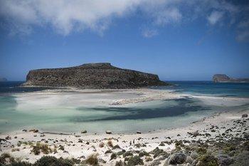 La playa Balos y su laguna