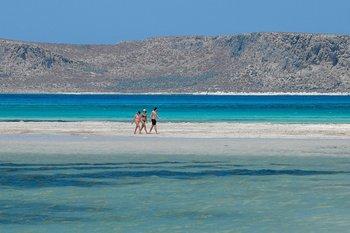 La playa Balos, al noreste de la isla de Creta
