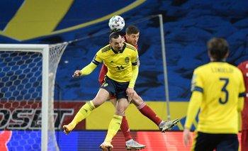 Zlatan Ibrahimovic jugando para Suecia el pasado 25 de marzo