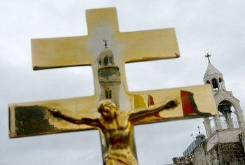 Los cristianos que habitan los territorios palestinos se acercan al 1% de la población.