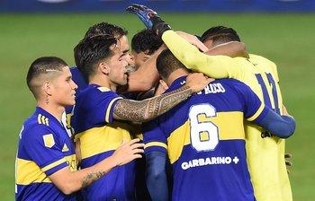 El festejo de Boca Juniors, pese a su decepcionante clásico