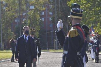 El presidente de Lacalle Pou en el Día del Ejército