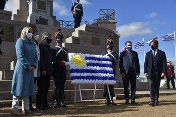 El presidente Luis Lacalle Pou en la conmemoración del feriado de la Batalla de Las Piedras