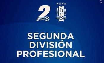 La imagen de la AUF con su logo de la Segunda División Profesional