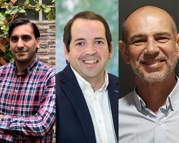 Jorge Bejar, Rodrígo Fernández y Ariel Pacilio