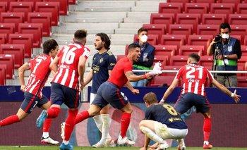 El alocado festejo tras su gol contra Osasuna el fin de semana pasado