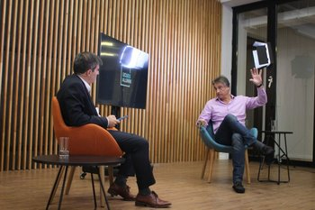 Marcos Soto, decano de UCUBS y Nicolás Jodal, CEO de Genexus
