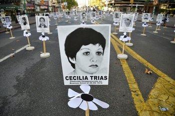 Los desaparecidos durante la dictadura militar son recordados este jueves en la avenida 18 de julio