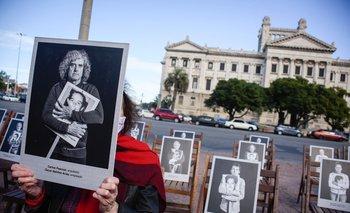 Una de las expresiones de este 20 de mayo frente al Palacio Legislativo