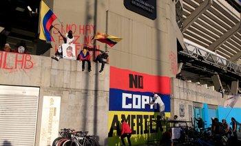 Las manifestaciones en Bogotá para que la Copa se suspenda