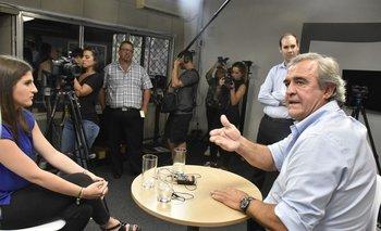 Jorge Larrañaga durante entrevista con El Observador en 2019, cuando era precandidato a presidente.