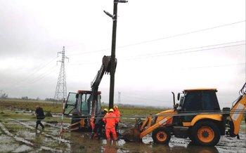 Más de 10 mil servicios de UTE afectados en el interior por fuertes rachas de viento
