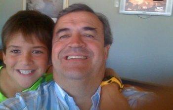 Jorge Larrañaga y su hijo Juan