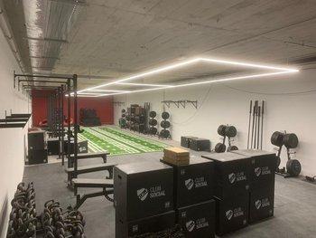 Nacional empieza a terminar las etapas de construcción de su club social; en la imagen se observa la sala de funcional