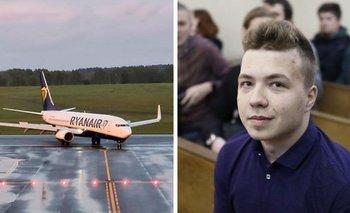 Roman Protasevich fue detenido cuando el avión aterrizó en Minsk, la capital de Bielorrusia