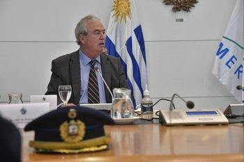 Luis Alberto Heber en la reunión de este martes con el presidente