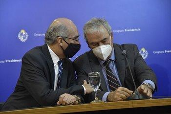 Heber hizo el anuncio en conferencia de prensa, tras un acuerdo ministerial del que también participó el subsecretario Guillermo Maciel
