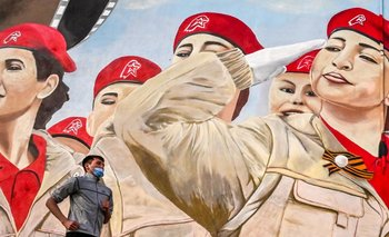 Mural patriótico ruso