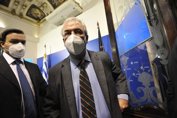 El ministro Luis Alberto Heber informó una baja de todos los delitos, en conferencia de prensa