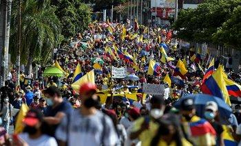Protestas contra el gobierno en Colombia