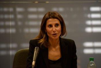 La embajadora de Palestina en Uruguay, Nadya Rasheed, compareció ante la comisión de Asuntos Internacionales de la Cámara de Diputados